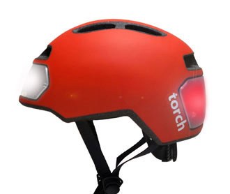 Torch urban helmet with LED lighting